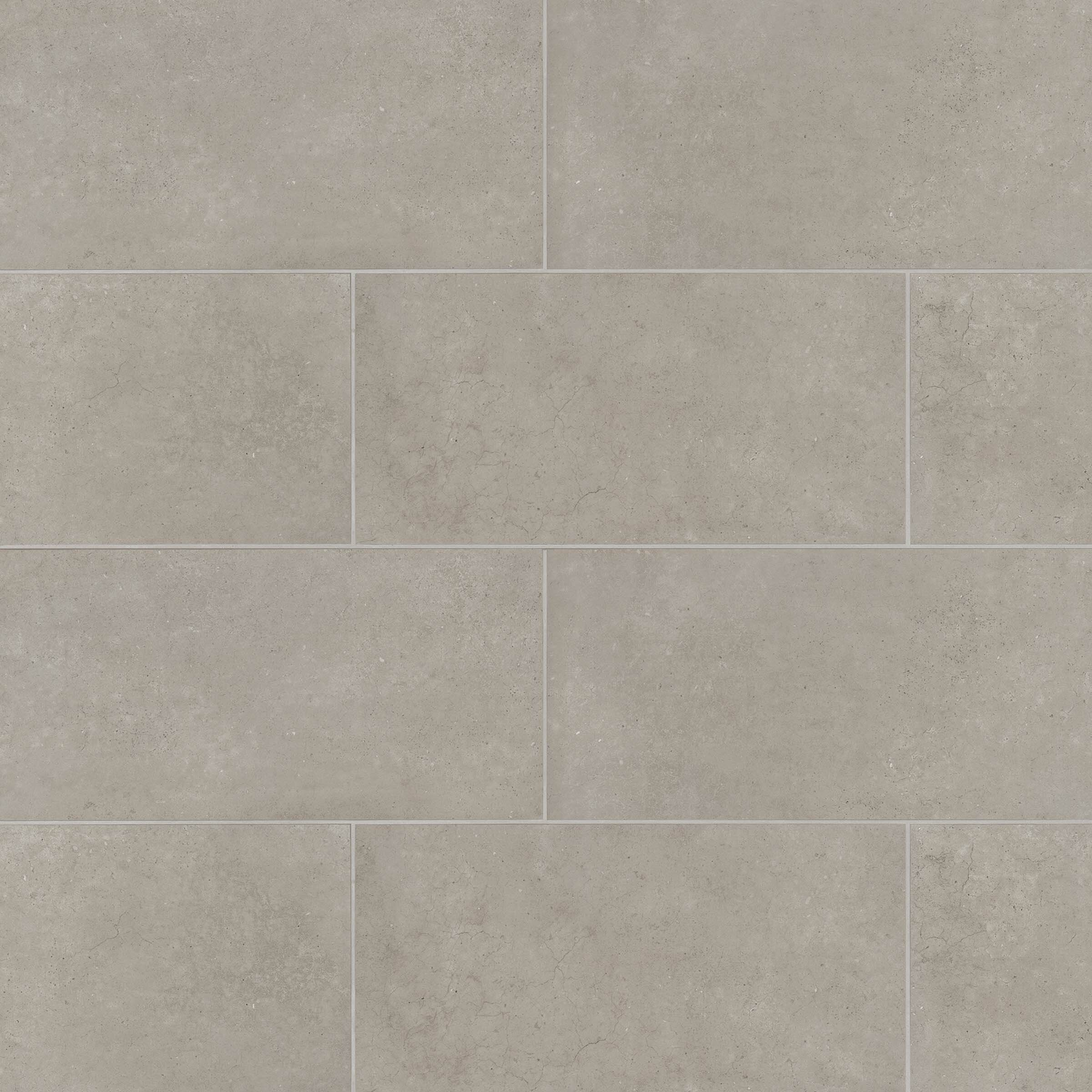 "Materika 6"" x 6"" Porcelain Concrete Look Wall & Floor Tile"