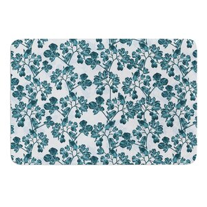 Flowers by Julia Grifol Bath Mat