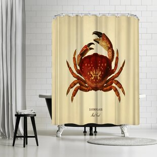 Adams Ale Mud Crab Single Shower Curtain