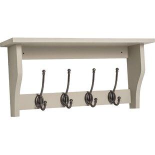 Lustig Shelf With 4 Coat Hooks By Brambly Cottage