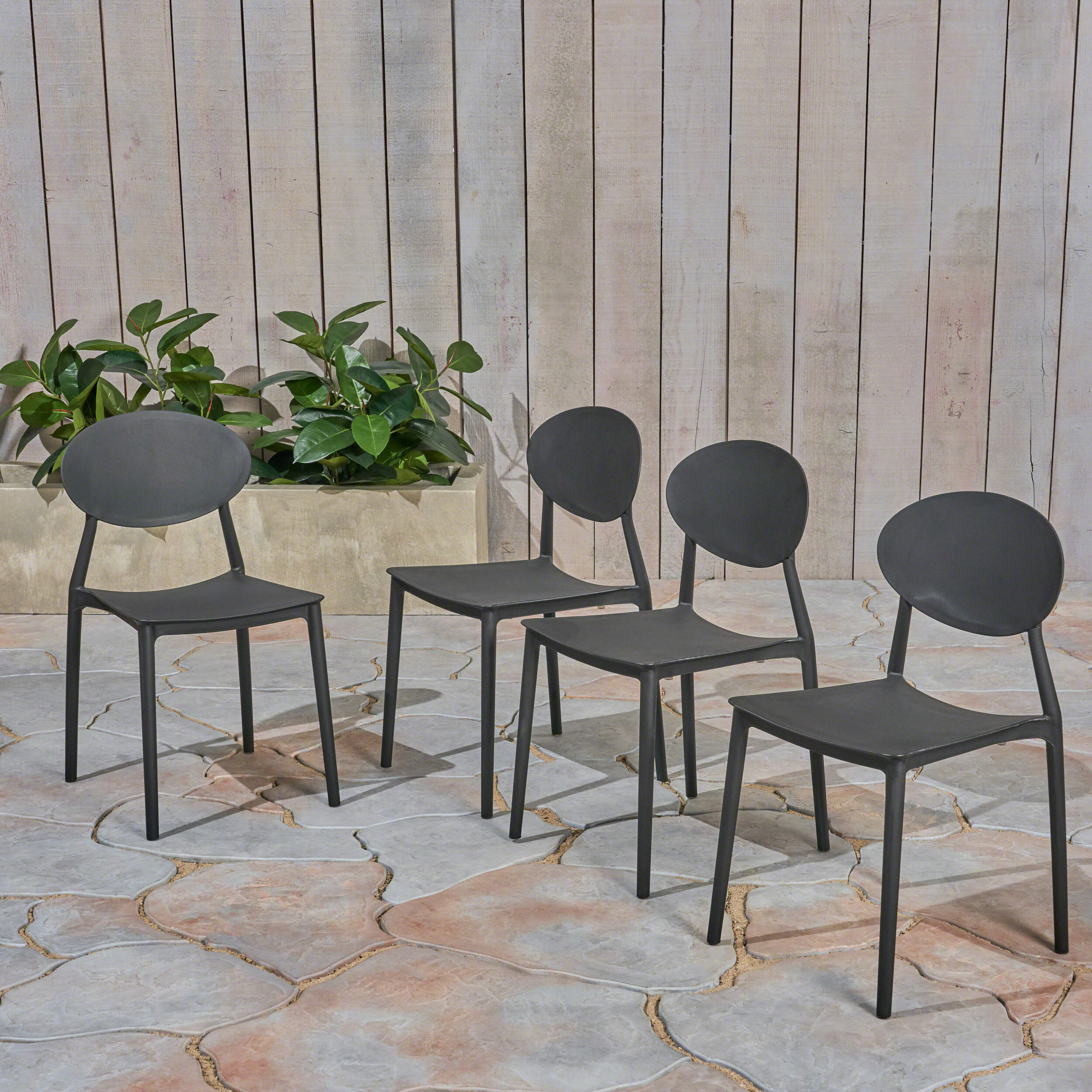 Ebern Designs Belford Stacking Patio Dining Chair Reviews Wayfair