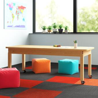 Factory Direct Partners Contour Thermo Fused Adjustable 24 X 72 Rectangular Activity Table Wayfair
