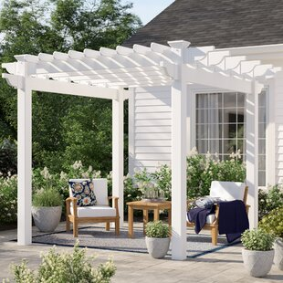 Daytona 9.5 Ft. W x 9.5 Ft. D Vinyl Pergola by Sol 72 Outdoor