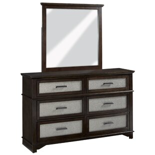 Larocco 6 Drawer Double Dresser with Mirror
