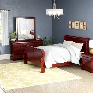 Veasley Sleigh 4 Piece Bedroom Set