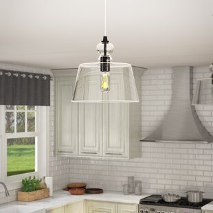 Du Bois Comtemporary Cord-Hung 1-Light Bell Pendant by Laurel Foundry Modern Farmhouse