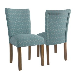 Adrien Haverstraw Textured Upholstered Dining Chair (Set of 2)