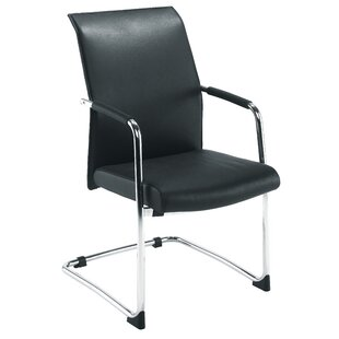 Kai Leather Guest Chair By Ebern Designs