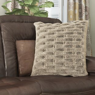 Kanesha Ruched Faux Fur Throw Pillow