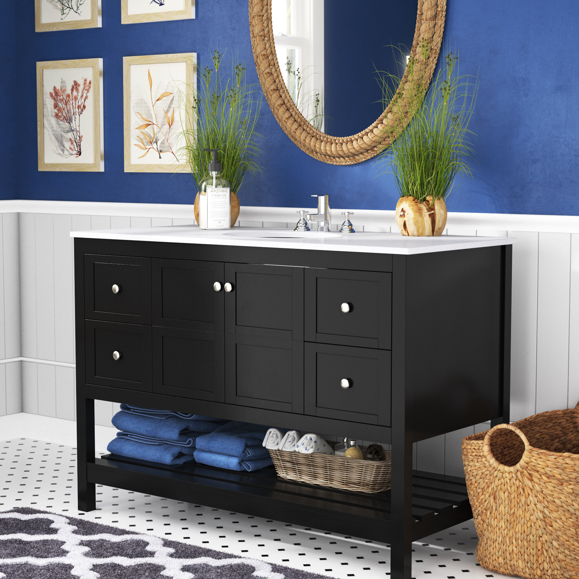 Longshore Tides Landis 48 Single Bathroom Vanity Set Reviews Wayfair