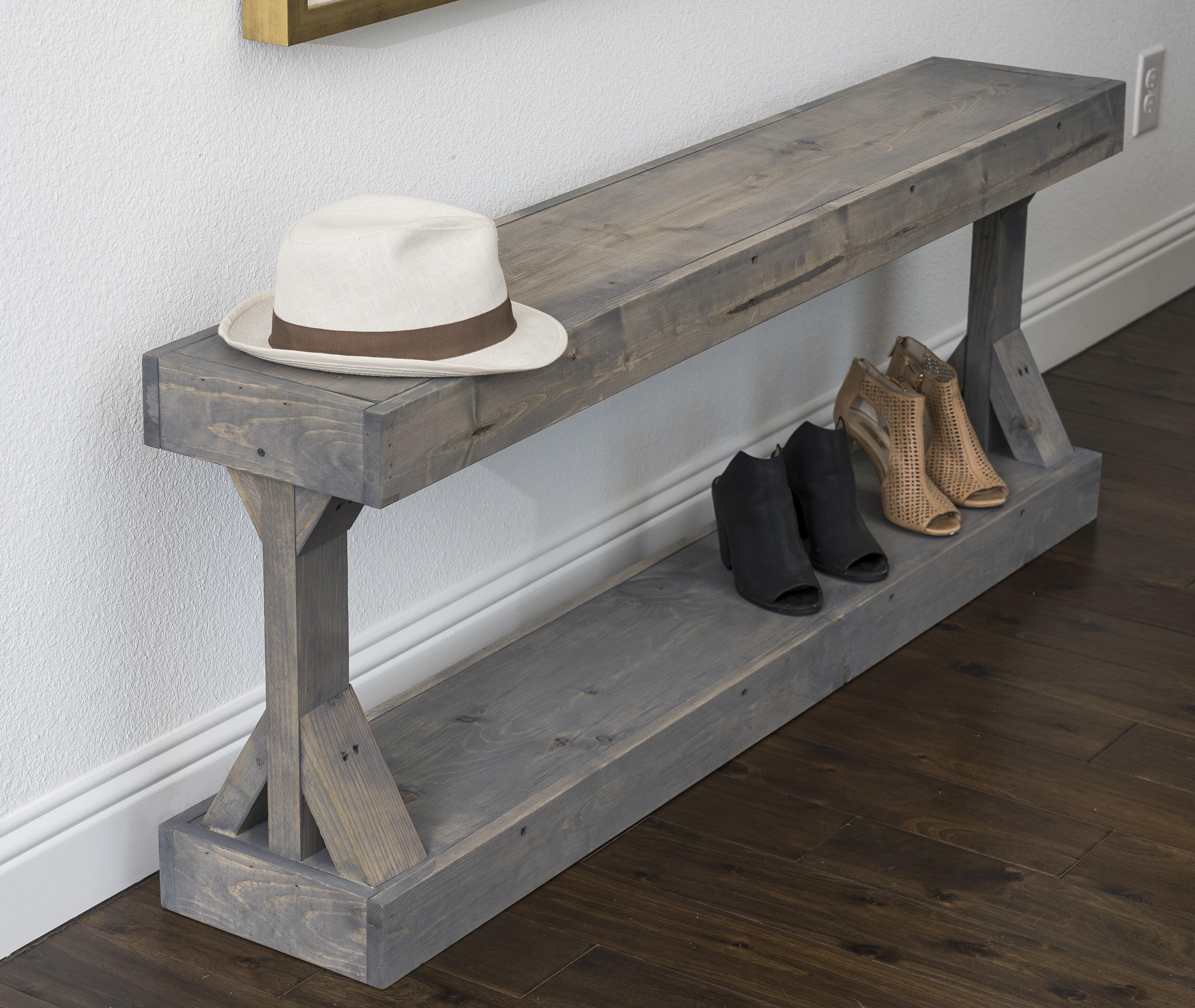 Union Rustic Dexter Wood Shoe Storage Bench & Reviews | Wayfair