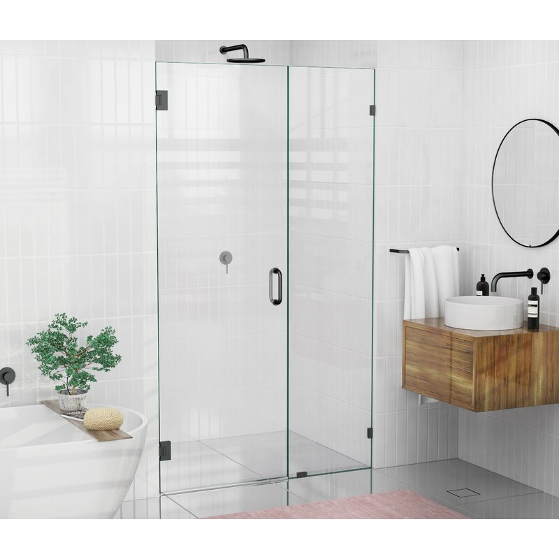 Glass Warehouse 46 X 78 Hinged Frameless Shower Door Reviews Wayfair