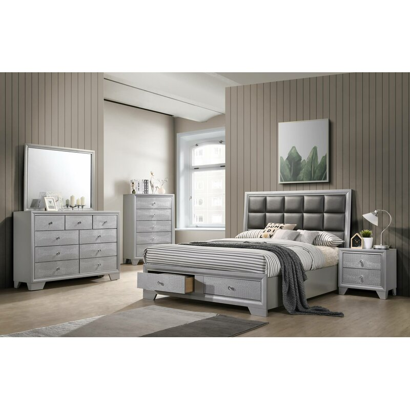 Wash King Platform 5 Piece Bedroom Set