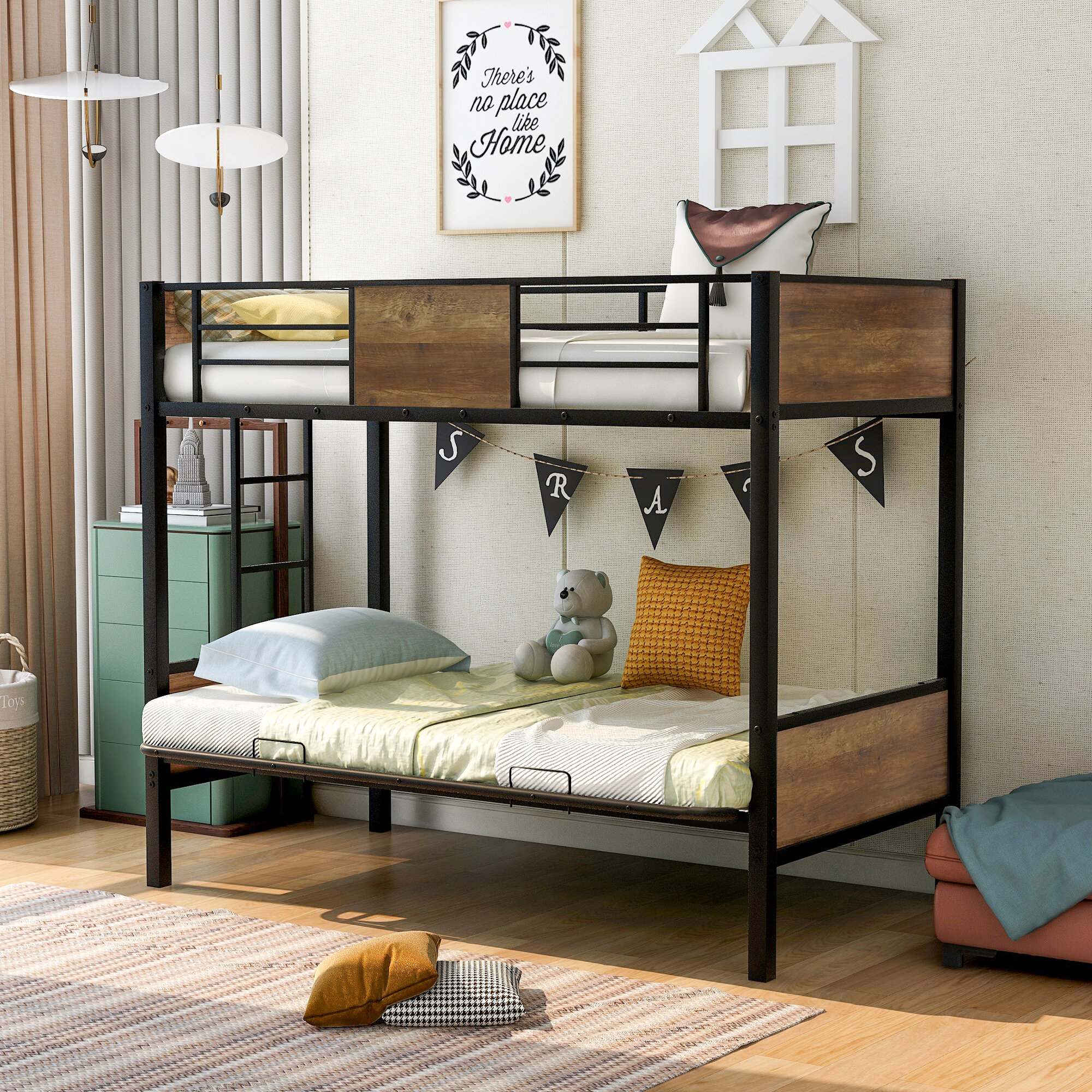 Mason Marbles Anya Twin Over Full Futon Bunk Bed By Mason Marbles Wayfair