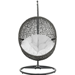 Modway Hide Swing Chair with Stand