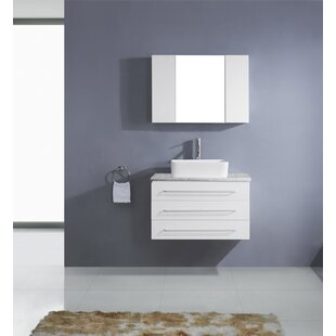 Cragmont 33 inch  Single Bathroom Vanity Set with Mirror