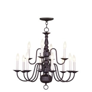 Three Posts Allensby 12-Light Chandelier