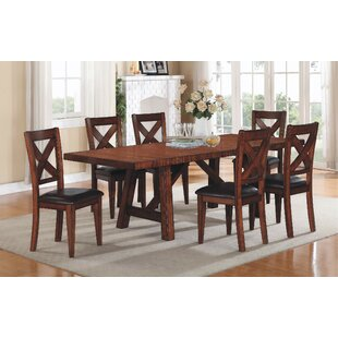Corvallis 7 Piece Extendable Dining Set Loon Peak