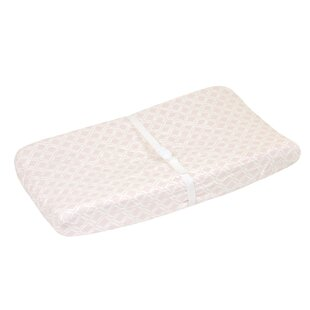 Fairbury Pink Diamond Changing Pad Cover By Greyleigh