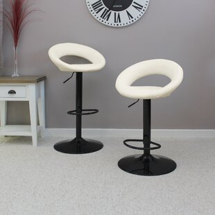 Ackley Height Adjustable Swivel Bar Stool (Set Of 2) By Wade Logan
