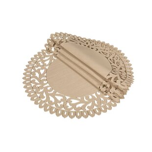 Burnard Embroidered Cutwork Round Placemat (Set of 4)