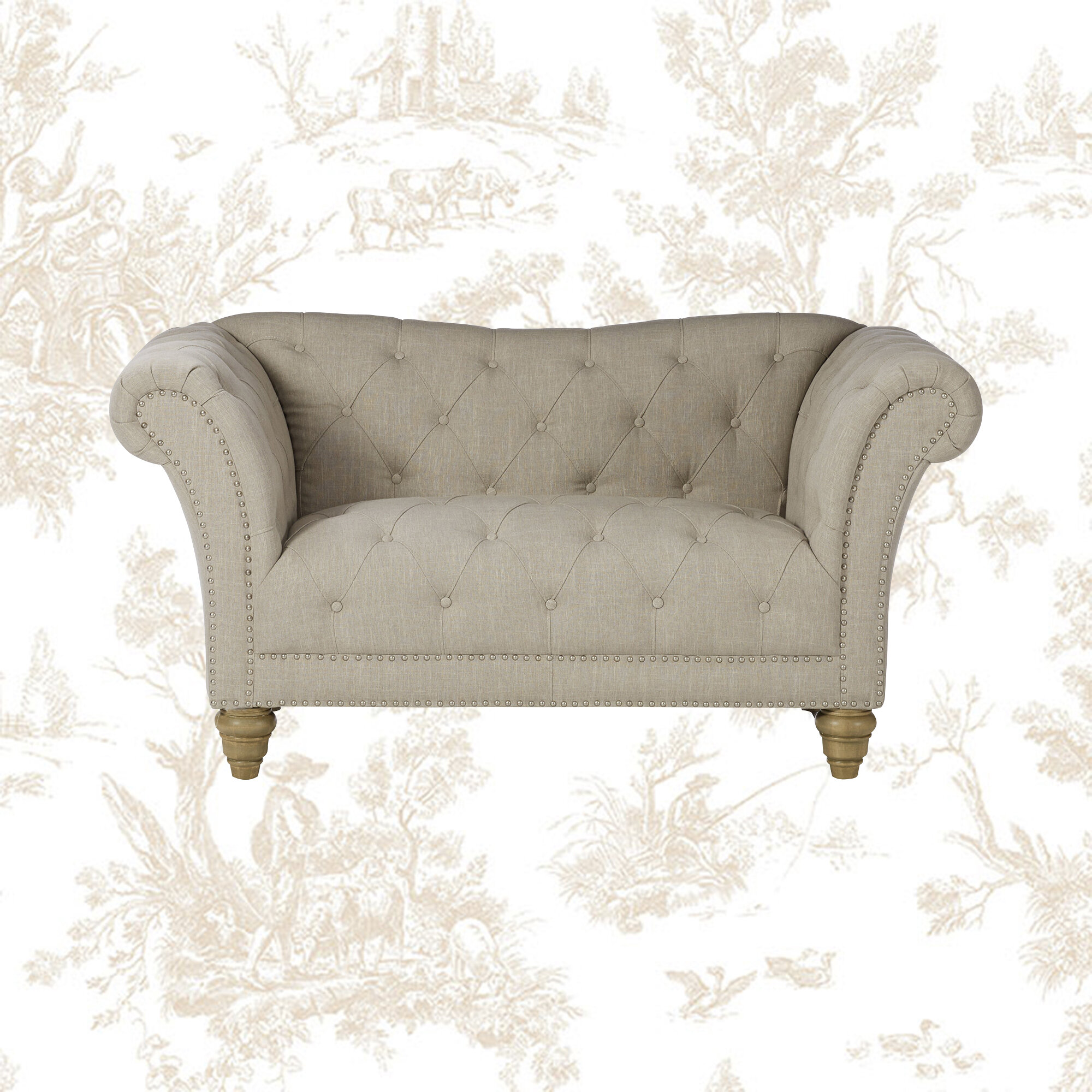 Picture of: Emerald Home Furnishings Faye 67 Tufted Loveseat In Off White Wayfair