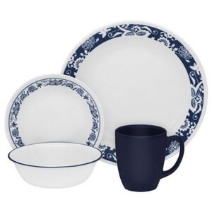 Livingware True 16 Piece Dinnerware Set, Service for 4