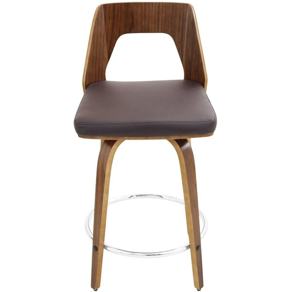 Modern Contemporary Woven Leather Counter Stool Allmodern