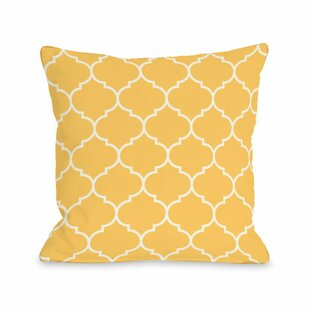 Repeating Moroccan Throw Pillow