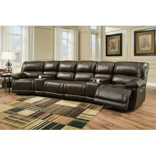 Kindle Recliner Home Theater Sectional Red Barrel Studio