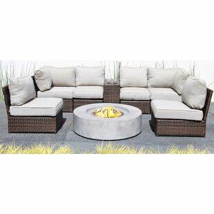 Orren Ellis Vasil 8 Piece Sectional Set with Cushions