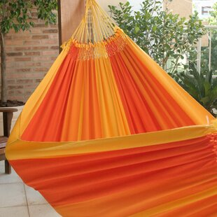 Double Person Fair Trade Portable Summertime Swing' Hand-Woven Brazilian Cotton Indoor And Outdoor Hammock