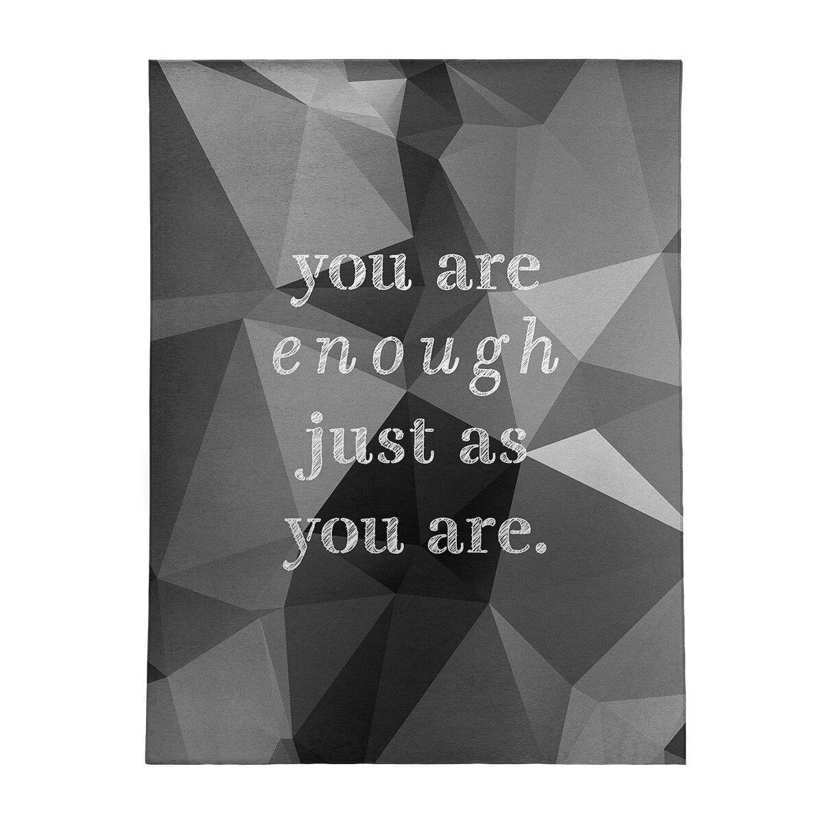 East Urban Home Faux Gemstone You Are Enough Quote Poly Chenille Rug Wayfair
