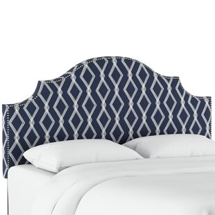 Newberry Nail Button Notched Crossweave Upholstered Panel Headboard