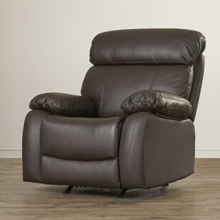 Franciscan Leather Manual Glider Recliner