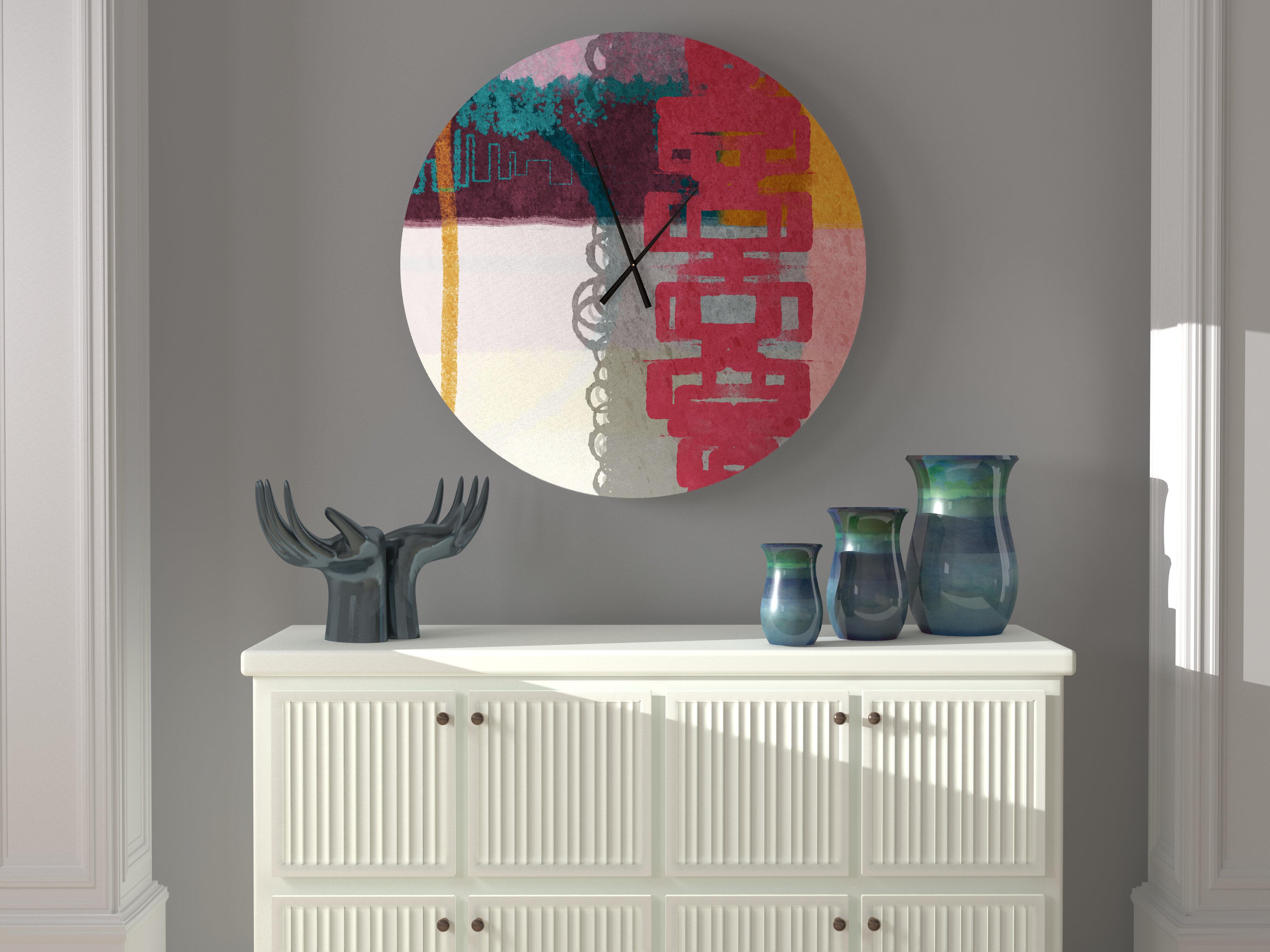 Latitude Run Decisive Responsive Abstract Metal Wall Clock Wayfair