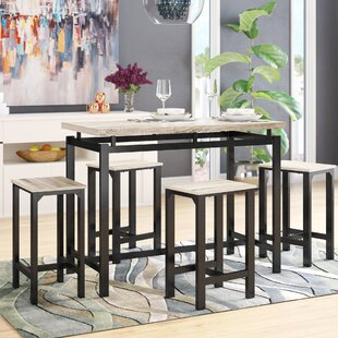 Weatherholt 5 Piece Pub Table Set Latitude Run