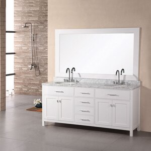 Middletown 72 Double Bathroom Vanity Set with Mirror