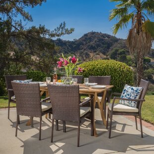 Hodges 7 Piece Dining Set By Bayou Breeze