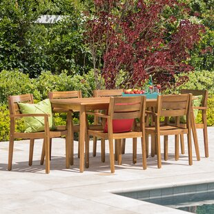Mistana Kassidy Outdoor Rectangular 7 Piece Dining Set