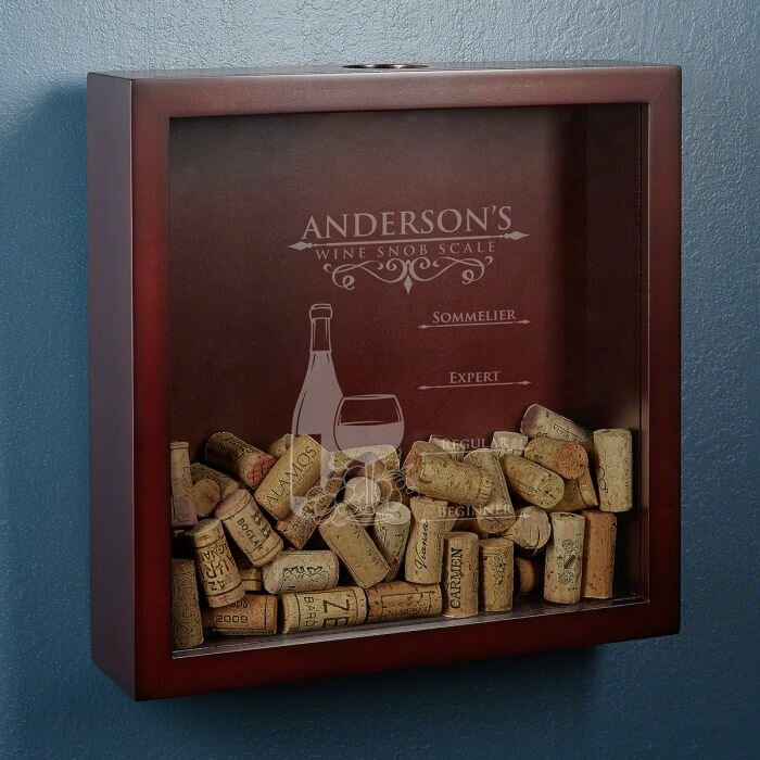 Winston Porter Kanode Wine Snob Scale Personalized Cork Holder Wayfair