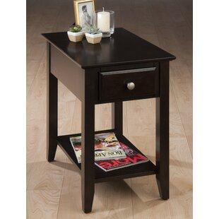 Matthias Transitional Wooden Chairside End Table by Charlton Home