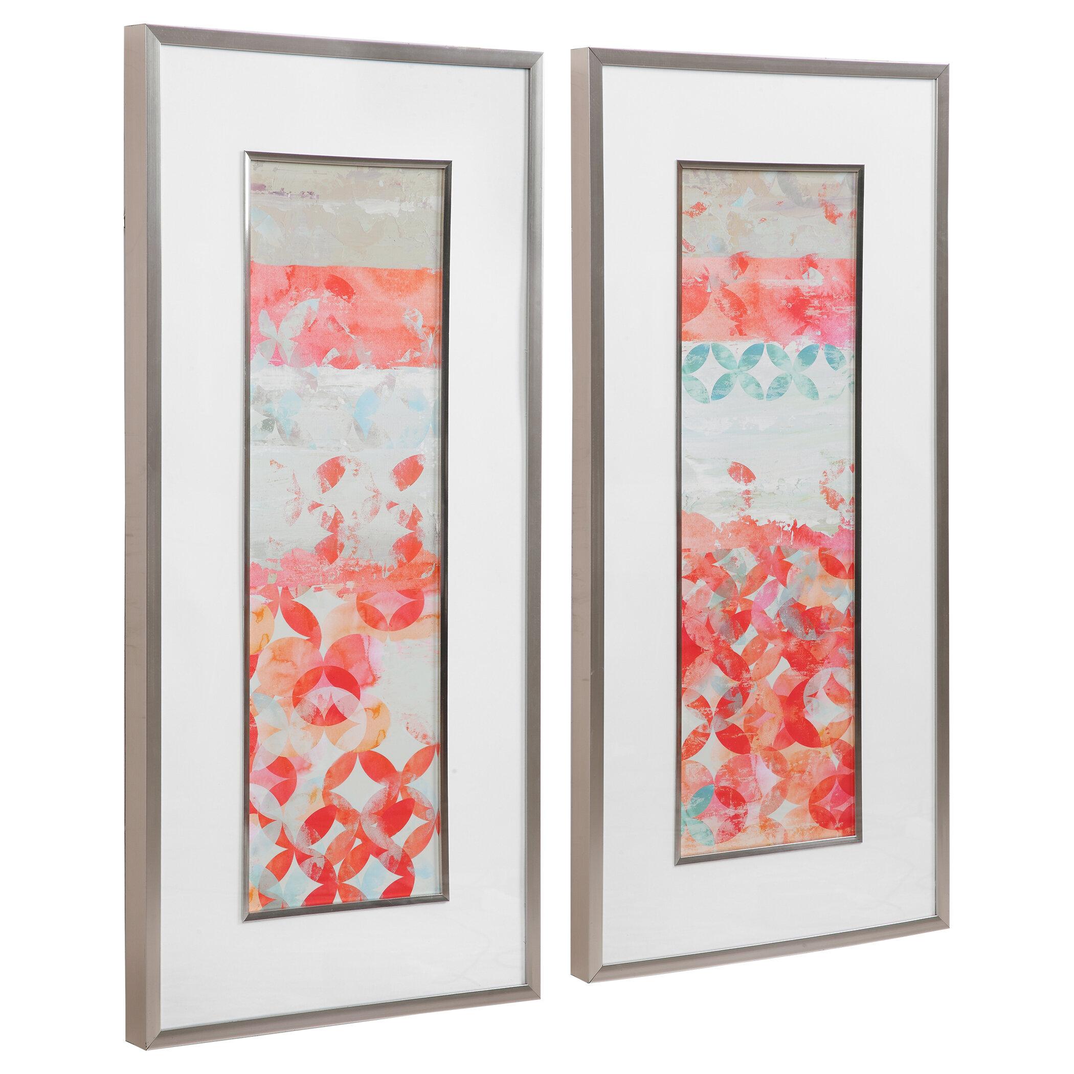 Brayden Studio 2 Piece Picture Frame Painting Print Set On Paper Wayfair