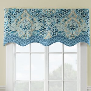 Moonlit Shadows Wave Window Curtain Valance