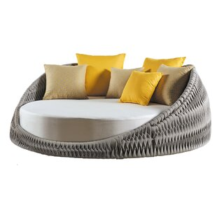 Pascarella Round Loveseat with Cushions by Bungalow Rose