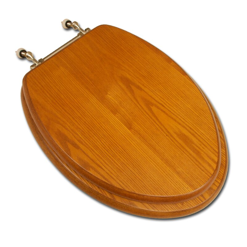 Comfort Seats Decorative Wood Elongated Toilet Seat  Reviews - Gold plated toilet seat