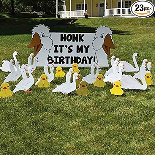 The Party Aisle 22 Piece Honk Its My Birthday Yard Decoration Sign Set
