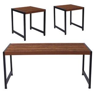 Union Rustic Logue 3 Piece Coffee Table Set
