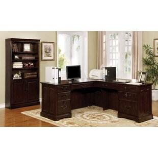 Appleby Transitional L-Shape Desk Office Suite by DarHome Co 2019 Coupon