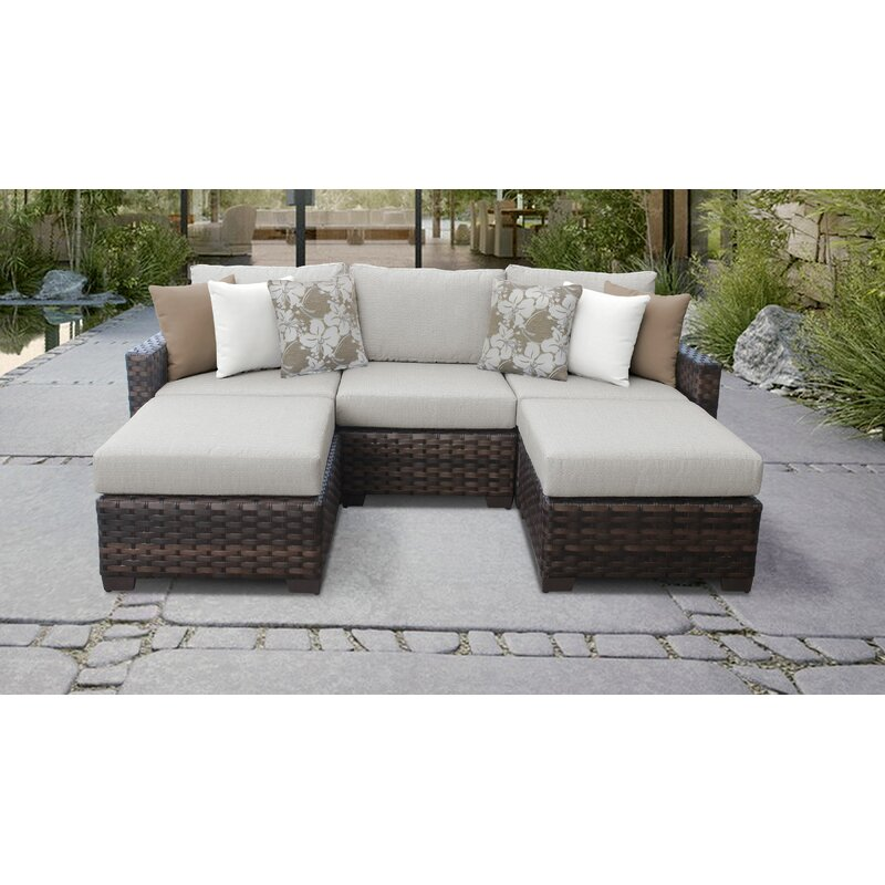 Tk Clics Kathy Ireland Homes Gardens River Brook 5 Piece Outdoor Wicker Patio Furniture Set 05e Wayfair